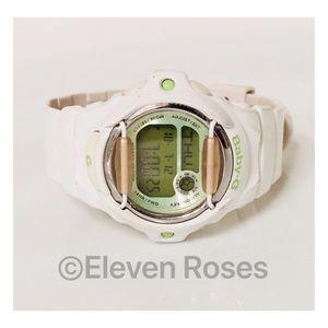 Casio Baby G White G-Shock Watch W/ Tin